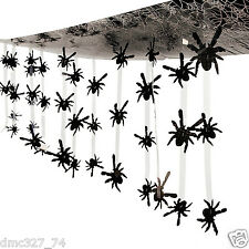 HALLOWEEN Haunted House Party Decoration Prop Dangling SPIDER CEILING COVER