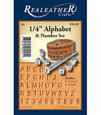 "NEW REALEATHER LEATHER CRAFTS 1/4"" ALPHABET & NUMBER SET #T8137 FAST SHIPPING!"