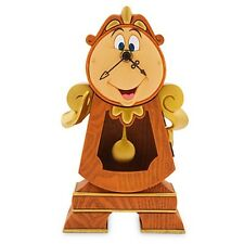"""Disney Parks Beauty and the Beast COGSWORTH 10"""" Working Clock Figurine NEW"""