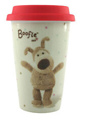 Boofle Travel Mug Ceramic Insulated Mugs With Silicone Lid Lovely Gift Idea