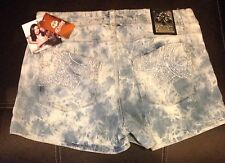 NWT Beyonce DEREON Tie-Dye Embellished Studded Jeans Shorts JR 9/10 $54