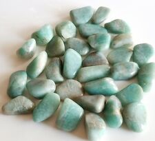 50-60 pcs Amazonite Tumbled 1/2 lb bulk stones