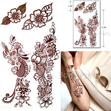Waterproof Paper Temporary Flower Tattoo Decals Mehendi Henna 3D Tattoo Stickers