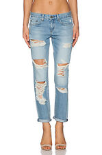 RAG & BONE  $265  REBEL DISTRESSED BOYFRIEND JEANS   32