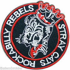 Rockabilly Stray Cats Rock n Roll Punk Biker Motorcycles Iron-On Patches #B034