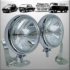 Bmw Mini Mk1 One Cooper S Sport Chrome Spot lights Fog Lamps & Custom Brackets
