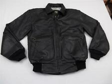 Harley Davidson Mens Supple Black Leather Manly Motorcycle Bomber Jacket Sz 36 S