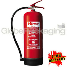 NEW 9 LITRE WATER FIRE EXTINGUISHER 9L WAREHOUSE OFFICE WORKSHOP HOME *24HRS*