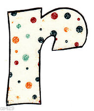 "2-3.5"" VINTAGE  ALPHABET  LETTER R NAME MONOGRAM FABRIC APPLIQUE IRON ON"