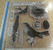 BIRD FEATHER UNMOUNTED RUBBER STAMP -STAMPERS ANONYMOUS TIM HOLTZ
