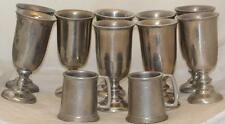 Pewter Goblet Stein Set 11 Wilton Armetale Plough Chalise Tavern Wine Water Beer