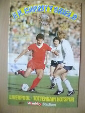 1982 FA CHARITY SHIELD- LIVERPOOL v TOTTENHAM HOTSPUR