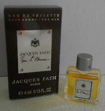 Miniature de parfum Jacques Fath Pour l'homme EDT 4 ml plein avec boite