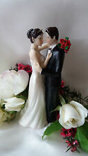 Romantico wedding cake topper Decorazione statuina sposi