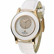 Swarovski Octea Classica asymmetric White Rose Gold Tone Watch 5095482