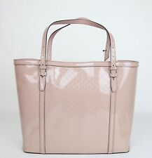 NEW GUCCI NICE MicroGuccissima Patent Leather Tote Bag Handbag Pink 309613 6812