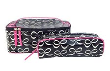 NWT Kate Spade LARGE COLIN BOWS Makeup COSMETIC Train Case SET $128 GWP