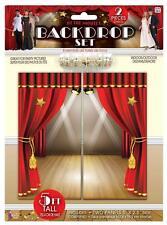 Conjunto de telón de fondo Hollywood Premios Oscars en el cine decoraciones de fiesta temática