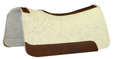 "7/8"" NATURAL Horse Contour Wool Felt Saddle Pad, 30""x30"", 5 Star Equine Products"