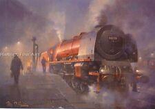 Duchess LMS Railway Engine Steam Locomotive Train Birthday Card