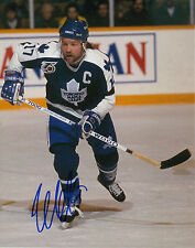 "WENDEL CLARK TORONTO MAPLE LEAFS SIGNED 8"" X 10"" PHOTO W/ COA"