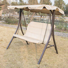 Outdoor 2 Person Canopy Swing Glider Hammock Patio Backyard Porch Furniture