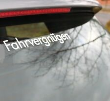 LARGE FAHRVERGNUGEN DECAL STICKER Euro Lowered Drift Stance Illest Fresh