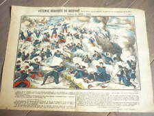GRAVURE 1890 DEFENSE HEROIQUE DE BELFORT DENFERT GUERRE 1870 1871