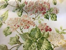 "Greeff fabric curtain material""summer hydrangea""lovely piece 3m 100% COTTON"
