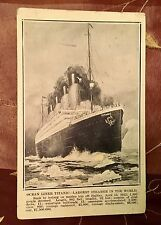 RARE ILLUSTRATED TITANIC POSTCARD APRIL 21, 1912 POSTMARK STAMP WHITE STAR LINE
