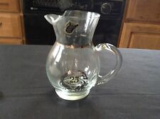 """Vintage Glass 25th Anniversary 6"""" Pitcher with silver label W.Va Weston WV Label"""