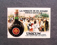 [GCG] M966 - Advertising Pubblicità - 1980 - AMARO UNICUM , FORTE E NATURALE