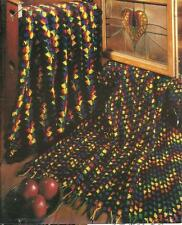 *2 Stained Glass Afghans crochet PATTERN INSTRUCTIONS