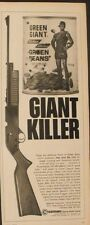 1966 Crosman Powermatic 760 BB Gun~Repeater Rifle Green Giant Beans Can Print Ad