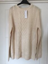 WAREHOUSE ARAN TYPE BAGGY KNITTED CREAM JUMPER SIZE 18 ANY SIZE BNWT RRP £45