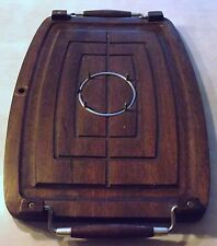 "Vintage ""A Prince Imports Japan"" Wood Meat Cutting Carving Board Platter~Spikes"