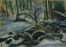 Vintage Original 1960 Winter Landscape by Listed Artist J. B. Mitchell