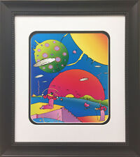 "Peter Max ""Year 2250"" 1996 Newly CUSTOM FRAMED Print Art POP psychedelic Future"