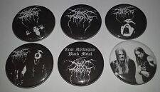 6 Dark Throne button badges 25mm True Norwegian black metal transilvanian hunger
