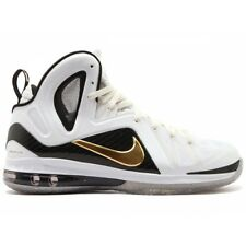 Nike Lebron 9 P.S. Elite SZ 13.5 Home White Metallic Gold Black James 51695