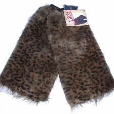 Women Fluffy Fuzzy Faux Fur Leg Warmers Muffs Boot Covers Halloween party
