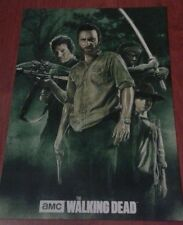 THE WALKING DEAD ART STYLE POSTER. RICK. DARYLL. MICHONE. ZOMBIE. HORROR. ART.