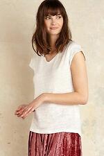 Anthropologie taira metallic trim top t-shirt taille 6UK