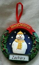 SNOWMAN PERSONALISED  CHRISTMAS  TREE DECORATION -BAUBLE   IDEAL GIFT. ANY NAME