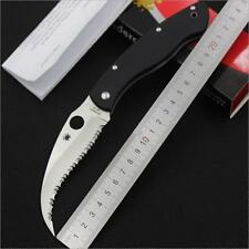 Outdoor Hunting Fishing Camping Rescue Tool Folding Serrated Spider Blade Knife