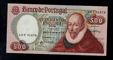 PORTUGAL  500  ESCUDOS  1979  AGT  PICK # 177a  UNC  BANKNOTE.