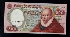 PORTUGAL  500  ESCUDOS  1979  AGT  PICK # 177a  UNC  BANKNOTE.