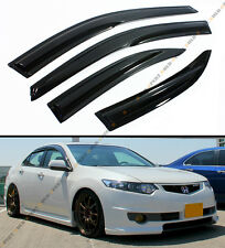 09-14 ACURA TSX 4 DOOR SEDAN CU2 MUGEN STYLE SMOKE WINDOW SUN RAIN GUARD VISOR