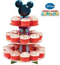Mickey Mouse Party Cake Tier Stand & Cupcake Cases Set