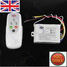 NUOVO 3 Modi On/Off 220v-240v LIGHT Interruttore Parete Wireless Digitale + Telecomando